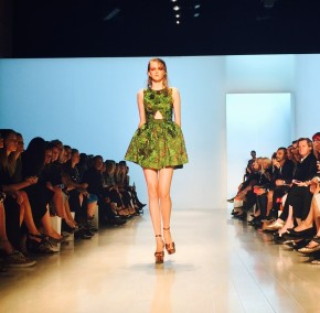 A-line, cutout dresses dazzelled onlookers at the catwalk at Mercedes-Benz Fashion Week in Sydney