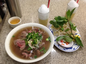Steaming hot Pho from the hottest Pho place in town